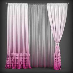 curtain 3d model 137 3d model max obj fbx mtl 1