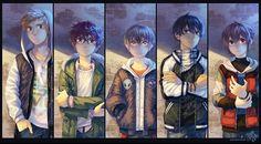 """All the gang 😎✨ #digitalart #illustration"" Art Folder, Fandom Crossover, Webtoon Comics, Sad Art, Super Hero Costumes, Cute Anime Character, Manga, Cute Art, Anime Characters"