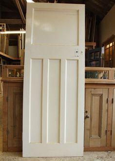 Reclaimed Pine Internal Door Dimensions: x 1955 mm x Internal Doors, Dollhouse Living Room, Doors Interior, Tall Cabinet Storage, Internal Glass Doors, Dollhouse Kitchen, Stained Glass Door, British Home, 1930s House