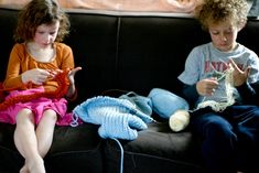 You know how I just wrote about howI like getting a handmade gift more than just about anything. Well, this is anything. Sitting on the couch on a lazy Sunday, knitting with my kids . . . that beats gift-getting for sure. It is a gift itself.We just sat there side-by-side, for about an hour, READ MORE