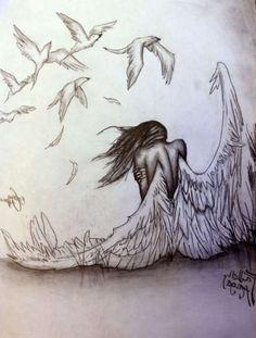 Pencil Drawings Of Angels Drawings Of Angels In Pencil Drawing Artisan photo, Pencil Drawings Of Angels Drawings Of Angels In Pencil Drawing Artisan image, Pencil Drawings Of Angels Drawings Of Angels In Pencil Drawing Artisan gallery Badass Drawings, Fairy Drawings, Sad Drawings, Dark Art Drawings, Pencil Art Drawings, Art Drawings Sketches, Beautiful Pencil Drawings, Landscape Pencil Drawings, Cute Couple Drawings