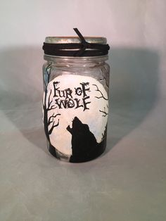 Witch's Apothecary Jar Wolf Fur by SagasCottage on Etsy