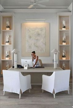 Home Interior Salas Neutral home office furniture london ontario on this favorite site Home Office Space, Home Office Design, Home Office Furniture, Home Office Decor, Cool Furniture, Diy Home Decor, Room Decor, Office Desk, Office Spaces