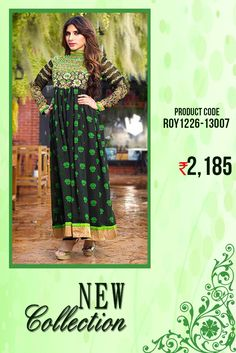 Designer #AnarkaliSuit in Green & Black Be #trendy and cool in this biggest #designercollection from the house of #Amafhh with this #designeranarkali at an #affordableprice just a click away check it once before its gone #onlineshopping #style #trending #embroidery #anarkali #designeranarkali #weddingwear #latestcollection #newdesigns #partywear #weddingwear