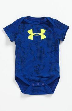 Under Armour NWT Baby Boys Size 24 Month Outfit Top Pant Blue Green Big LOGO