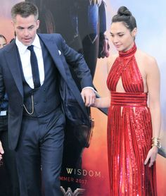 Chris Pine, Gal Gadot, promoting Wonder Woman