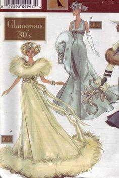 Moldes antigos de vestidos para a Barbie
