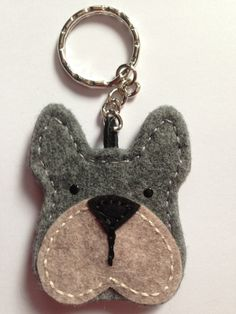 Felt Boxer Dog Keyring - Handmade                                                                                                                                                      More