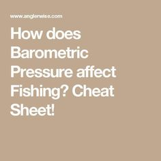 How does Barometric Pressure affect Fishing?-How does Barometric Pressure affect Fishing? How does Barometric Pressure affect Fishing? Crappie Fishing Tips, Bass Fishing Lures, Bass Fishing Tips, Carp Fishing, Saltwater Fishing, Ice Fishing, Fishing Stuff, Fishing Tricks, Fishing Tackle