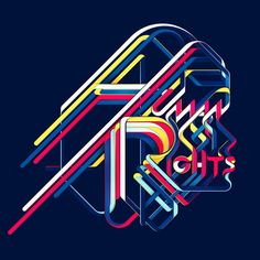Graphic Illustration of Human Rights (for HR Magazine) by Charles Williams (work from portfolio) [UK] Cool Typography, Typography Letters, Graphic Design Typography, Graphic Prints, Lettering, Logo Design, Typography Inspiration, Graphic Design Inspiration, Art Actuel