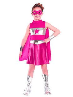Pink superhero girls #fancy dress comic book #childrens kids #child costume #outfi,  View more on the LINK: 	http://www.zeppy.io/product/gb/2/351570921324/