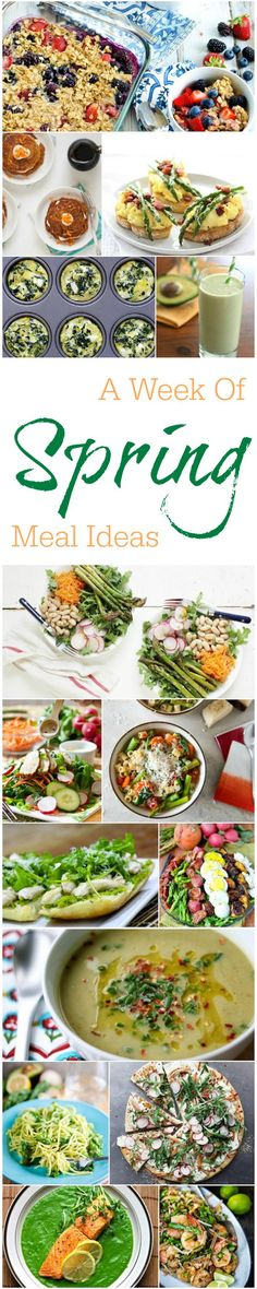 Looking for new ways to use your spring produce? Here's a week of spring meal ideas!