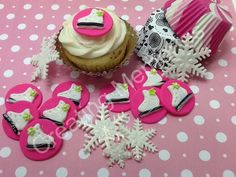 18 Ice Skates Fondant Cupcake toppers by anafeke on Etsy, $15.00