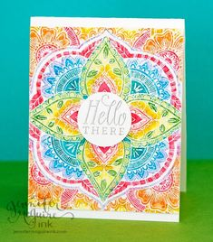 Hello! Today's video shows 3 ways to use 1 background stamp. I also have a 15% discount code for Hero Arts products... and a giveaway! First up - the disco