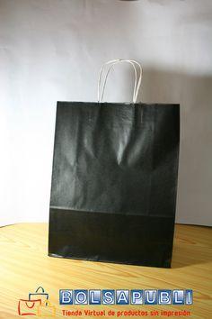 Bolsas de papel de asa rizada.