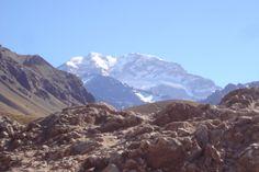 Aconcágua a 6962 metros de altitude, Mendoza, Argentina.