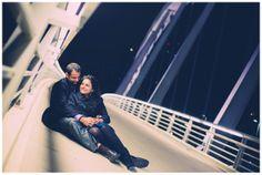 Couple shoot | Prewedding shoot | Engagement shoot | Engagement photography | Columbus downtown | Fall engagement shoot ideas | OSU | Bridge | Ohio Indian wedding Photographer