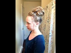 Messy Bun for Long Hair - YouTube