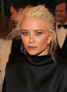 Mary-Kate Olsen wearing Hourglass cosmetics at the annual Costume Institute Gala at The Met in New York
