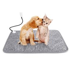 Veidoo Pet Heating Pad, Large Electric Heating Pad for Cats and Dogs with Overheat Protection, Waterproof, Convenient Cleaning, Large (Gray) Normal Body Temperature, Bed Mats, Bed Furniture, Dog Bed, Snuggles, Cold Weather, Pet Supplies