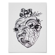 Fierce Love Crystal Real Heart Graphic Poster - decor gifts diy home & living cyo giftidea
