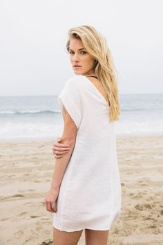 Named after the author, adventurer and marathon runner- the Rosie Dressis a laid-back shiftdress made to wearon all of your adventures. Featuringa boatneck décolletage and sophisticated draped shape, you can easily dress this up or down with boots or flats.Part of our Eco-Friendly Collection,this piecehas been