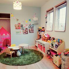 yuttanさんの、部屋全体,IKEA,子供部屋,注文住宅,平屋暮らし,北欧好き,好きなものに囲まれて暮らす,TRICOT照明,のお部屋写真 Living Room Playroom, Desk In Living Room, Kids Bedroom, Toddler Room Organization, Ikea Baby, Dream Kids, Kid Desk, Kids Room Design, Kid Spaces