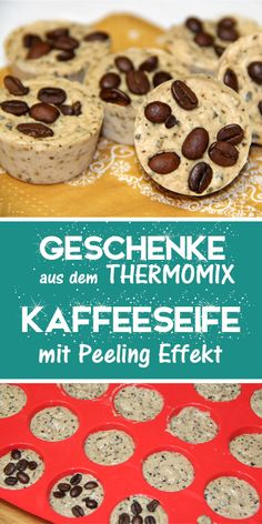 Coffee soap with peeling effect. Gift idea from the Thermomix. - This exfoliating soap is a great gift from the Thermomix. Whether birthday, Easter or for Christmas - Easy Diy Gifts, Great Gifts, Coffee Soap, Exfoliating Soap, Diy Paper, Cocktail Recipes, Diy Beauty, Homemade, Make It Yourself