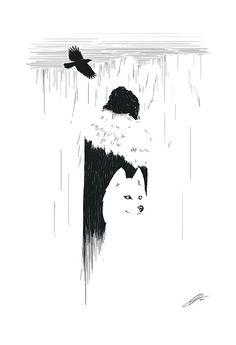 The Night's Watch Jon Snow Poster by brucelovesyou on Etsy