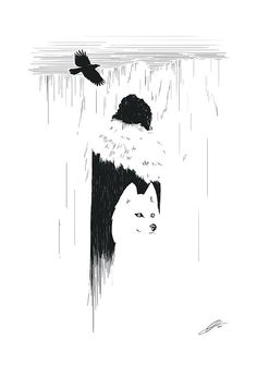 The Night's Watch Jon Snow Poster by brucelovesyou on Etsy