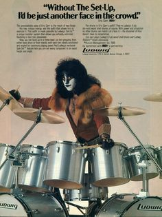 Eric Carr/Ludwig Promotional Ad https://www.facebook.com/FromTheWaybackMachine