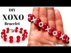 xoxo Bracelet. DIY Valentine's Day Gift. Beading Tutorial - YouTube