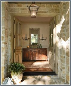 Pin by laura hunter on homes, decor, architecture in 2019 тосканский стиль, French Decor, French Country Decorating, Interior And Exterior, Interior Design, Old World Style, French Country House, French Cottage, House Entrance, Entry Foyer