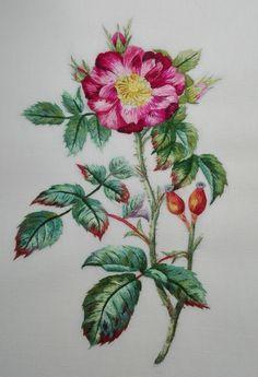Peinture à l'aiguille réalisée par Chantal