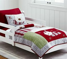 Dear Santa Toddler Quilted Bedding #pbkids