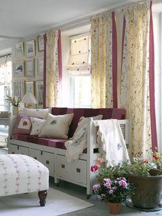 Sheer Curtains & Roman Blind