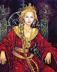 """Reine Guenièvre - Queen Guinevere: The name come from the Welsh """"Gwenhywhar"""" which means """"white ghost. Norse Goddess, Celtic Mythology, Goddess Symbols, Norse Pagan, Goddess Art, Morgana Le Fay, Mists Of Avalon, Roi Arthur, Freya"""