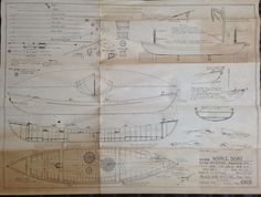 "Vintage MARINE MODEL COMPANY ""True Scale"" WHALE BOAT No. 1069 - Copywright 1937"