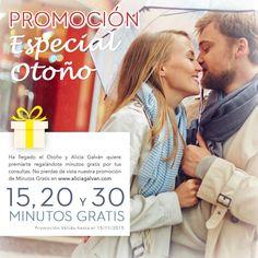 Aprovecha la promoción especial de otoño de Alicia Galván y consigue minutos para resolver todas tus dudas