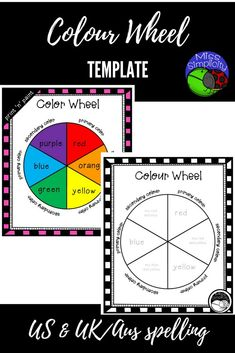 Super simple colour/color wheel template for students to paint.