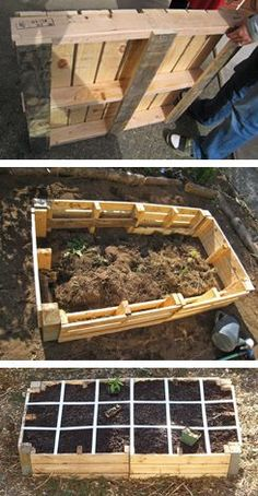 A DIY Raised Pallet Garden on the Cheap.  What a great way to recycle and reap rewards from you own CHEAP labor of love!
