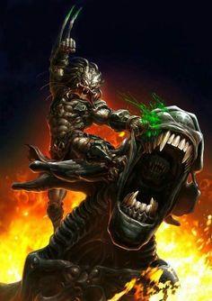 Queen Xenomorph vs Predator