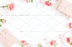 Flowers frame by Flaffy on @creativemarket