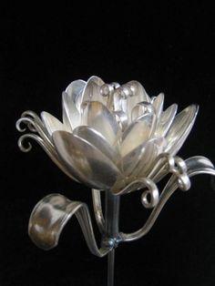 Repurposed silverware by Dan Shattuck featured at the 3 .