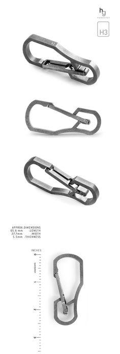 HANDGREY™ : Quick Release Titanium Keychain Carabiner by THANASIT (SUNNY) INKAVESVAANIT