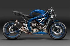 Suzuki GSX-R Cafe Racer Design by Kustomeka  #motorcycles #caferacer #motos | caferacerpasion.com
