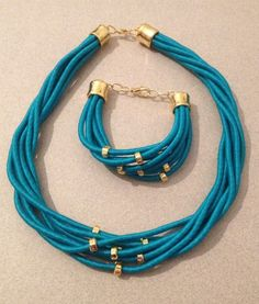 Turquoise rope set