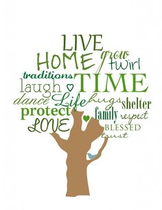 Free printable download. Use for Project Life. Oo what about makin the tree trunk a Cali shape