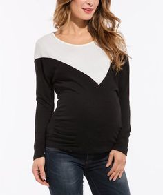 a89b393340c8e Black & White Top - $34.99 Cute Maternity Outfits, Pregnancy Outfits,  Designer Maternity Clothes