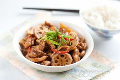 Lotus Root and Chicken Stir-Fry recipe